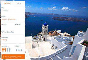 Santorini Urlaub online suchen und buchen