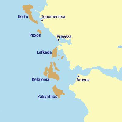 Mitsegeln Ionische Inseln