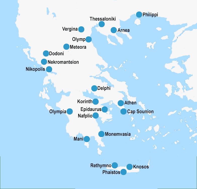 Griechenland Peloponnes Karte Deutsch.Peloponnes Rundreisen Rundreisen Auf Peloponnes A La Càrte Mixen