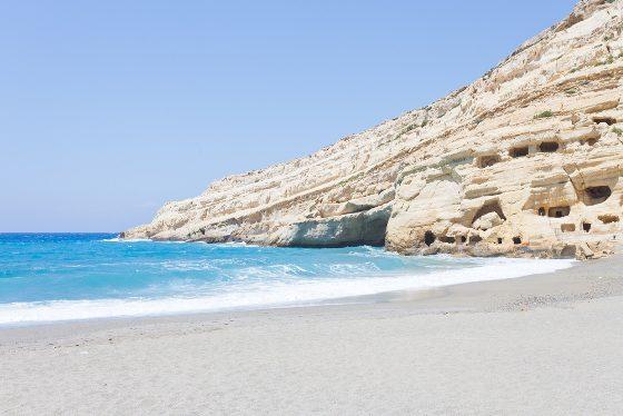 Strand von Matala auf Kreta