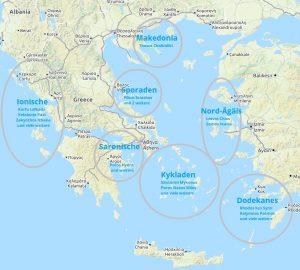 Inselhüpfen Griechenland und Griechische Inseln