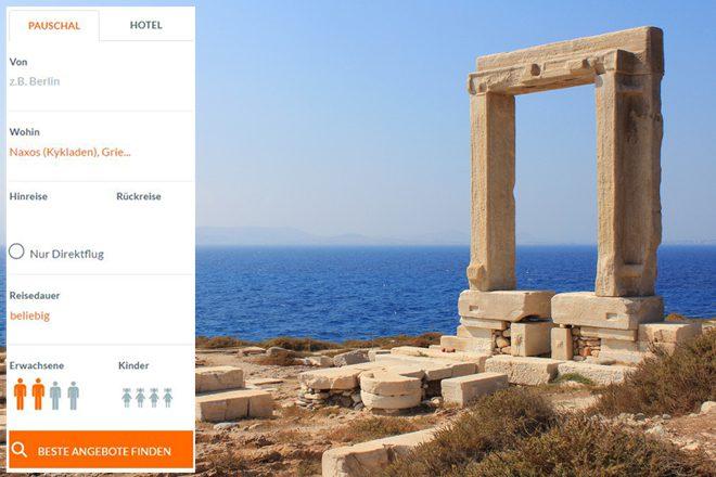 Naxos Urlaub online suchen und buchen