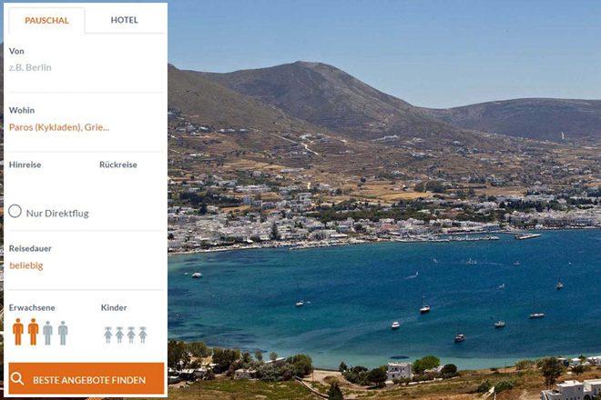 Paros-Urlaub online suchen und buchen