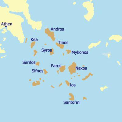 Die Kykladen Inseln
