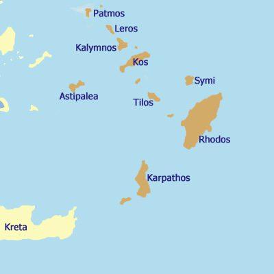 Die Dodekanes Inseln