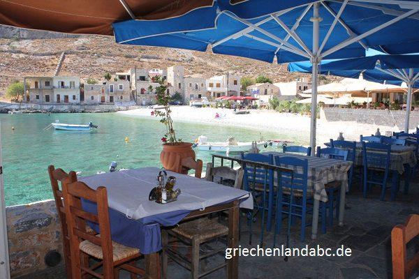 Strandtaverne in Griechenland