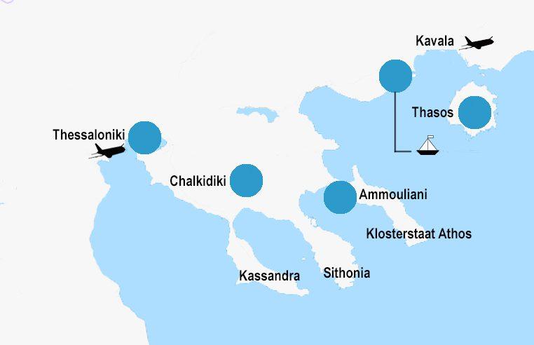 Inselhüpfen und Inselhopping Griechenland