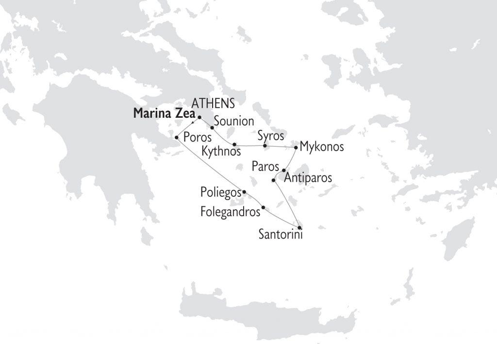 Kreuzfahrt Juwelen der Kykladen in Griecheland