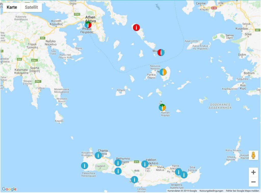 Inselkombination Kreta mit Kykladen und Athen