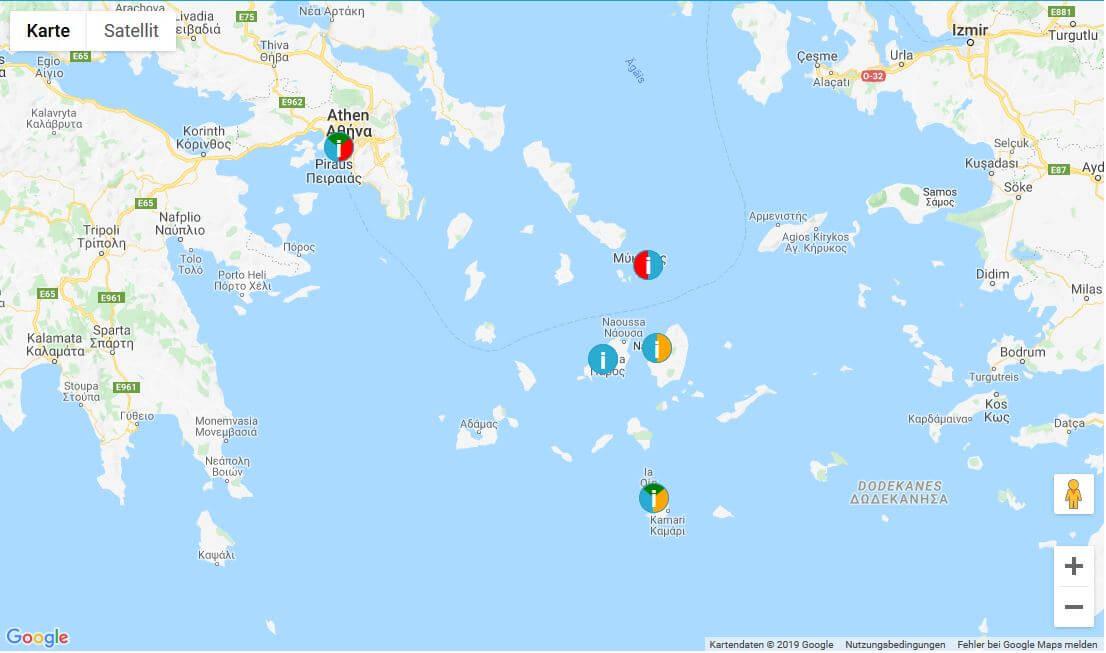 Rundreisen Kykladen Inseln Griechenland
