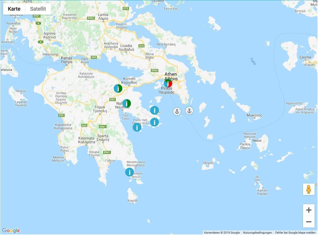 Inselhopping Saronische Inseln Griechenland