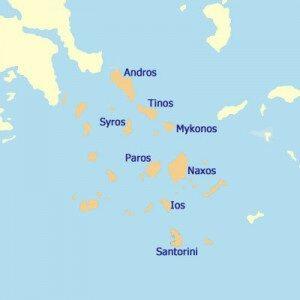 Inseln der Kykladen